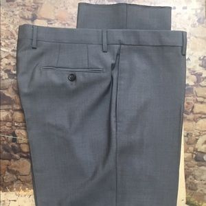 Burberry London Gray Flat Front Pants Size 40